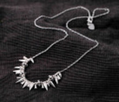 Pretty in Punk Cluster Necklace - Silver