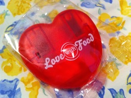 Love with Food Heart Shaped Chip Clip