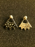 Perforated Pearl Earrings