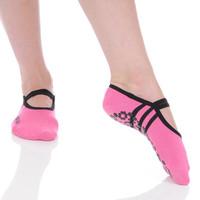 Rose Pink Ballet Barre Sock for Breast Cancer