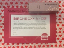 Josie Maran Cosmetics 100% Pure Argan Oil Light in sample size 5ml/0.16oz from the 2014 Birchbox for CEW (Cosmetic Executive Women) 20 year Anniversary choice for prestige cosmetics limited edition box