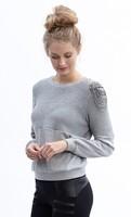 Asymmetrical Beaded Sweater in Grey
