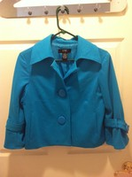 Blue Big Button Blazer
