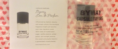 "CAPSULE PERFUMES ""BYWAY"" EAU de PARFUM in 0.05 OZ w/$38.00 retail From the 2014 Special Edition POPSUGAR MUST HAVE FALL STYLE BOX"