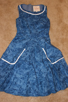 Myrtlewood Blue Retro Dress Size Small