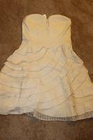 Minuet Strapless Tiered Fan Dress Size Small