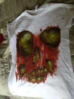 Skull Shape Zombie Flesh Shirt