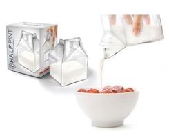 Fred Half Pint Glass Milk Carton Creamer