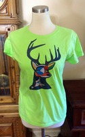 Original art stag tee by Threaded Canvas