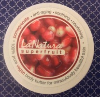 LaNatura Superfruit Body Butter in Pomegranate 1 OZ travel size From Autumn Fab Fit Fun VIP (retail according to FFF $18.00)