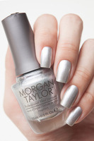 "Morgan Taylor Professional Nail Lacquer in ""Oh Snap, It's Silver"""