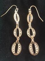 Bijoux Gold circle drop earrings