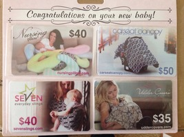 Bundle of four gift cards