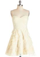 Modcloth Minuet Baklava Dress, cream, removable straps