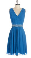 Geode Glitz and Grandeur Dress in Aquamarine