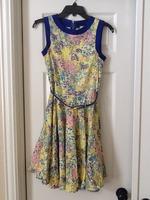 Multi-colored dress w/belt-closet brand