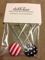 Fabric Cover Button Bookmarks