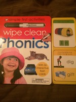 Wipe Clean Phonics set with flash cards