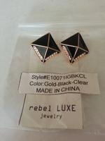 Rebel Luxe Pyramid jeweled stud earrings
