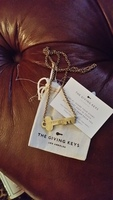 "The Giving Key's Neverending Necklace in Antiqued Gold ""FEARLESS"""