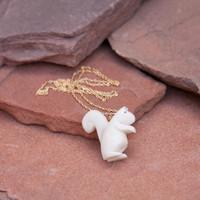 Tagua Squirrel Pendant Necklace