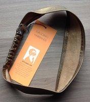 Eva Scrivo Leather Metallic Headband