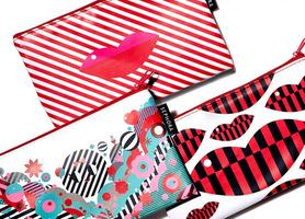 Sephora Striped Kisses Cosmetic Bag