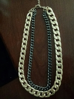 Kelli Gold and Black Chain Necklace