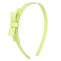 Light Green Shiny Bow Headband