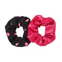 2 Pack Sparkle Dot Scrunchies