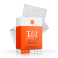 Tan Towel Self-Tan Towelette Half Body Application for Face and Body