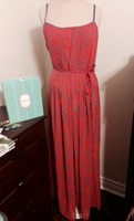 Esley Maxi Dress - Large (Orange and Blue)