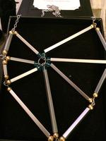 Geo Web Necklace