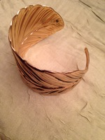 Golden Tote Feather Cuff Bracelt