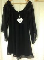 VaVa Sheer Dress Black