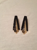 Jewelmint Black & Gold Earrings
