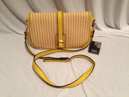 MMS Yellow & White Striped Shoulder Bag