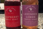 Royal Rose Simple Syrup in Raspberry and Lavender Lemon