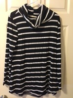 Le Lis striped cowl neck swing tee