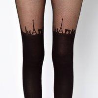 Paris Skyline Tights – Value $15