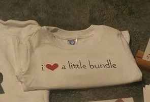 I ♡ a Little Bundle t-shirt