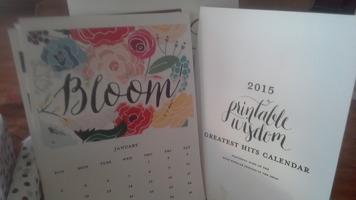 Printable Wisdom 2015 Greatest Hits calendar