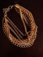 Multi-Strand Golden Bracelet