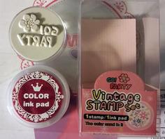 Kawaii Party Stamp & Ink Pad