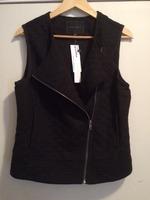 Sanctuary Molli Knit Moto-Style Vest