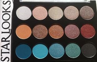 Starlooks 15 Shade Shadow Palette in 'Mermaid'