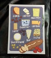 Cheese Board Art Card.