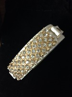 Sparkle snap band bracelet
