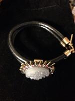 Double wrap bracelet with pendant