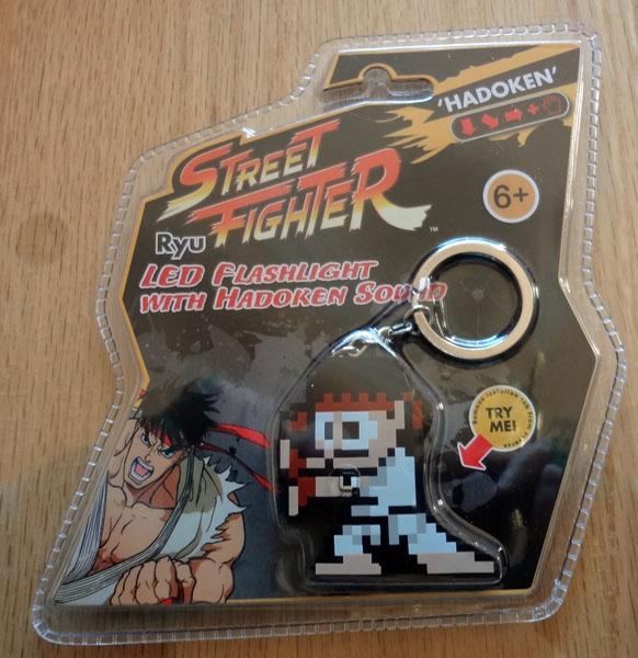 Street Fighter Ryu LED Flashlight Key Chain w/ Sound